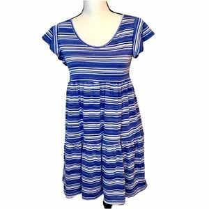 See You Monday Dress Blue White Stripes NWT size S